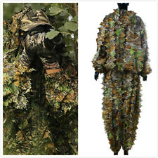 3D Hoja Ropa De Caza Camuflaje Ghillie Suit Traje Camo Bosque Militar Traje ES