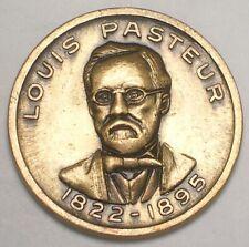 Vintage Louis Pasteur Germ Theory Token XF+