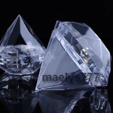Contenant à dragées diamant  mariage baptême coffret cadeaux bijoux lot 8pcs.