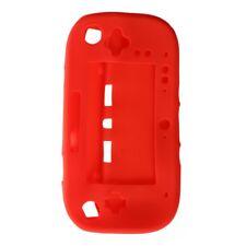 Funda case carcasa protectora Wii U Gamepad rojo silicona TPU O6N3