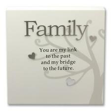 Said with Sentiment 7110-WT-FAM Wall Art Block Family