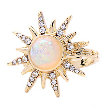 Starburst northstar opal ring