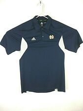 Adidas Adizero Polo Football Blue Notre Dame Shirt Climalite Size Medium #A002