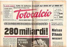 rivista BOLLETTINO UFFICIALE DEL TOTOCALCIO 13 GIUGNO 1967 NUMERO 24