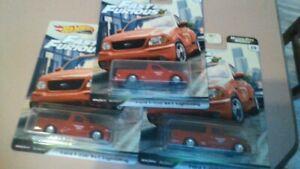 Hot Wheels premium Fast & Furious Motor city Muscle Ford F-150 Lightning x 3 pk