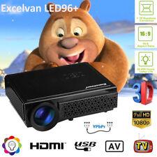 Full HD 1080P 5000Lumen LED 3D Beamer Projektor Projector HDMI*2/USB*2/VGA/TV EU