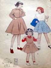 *LOVELY VTG 1950s GIRLS SUIT Sewing Pattern 2