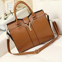 Ladies New Designer Leather Handbag Celebrity Style Tote  Shoulder Satchel Bag