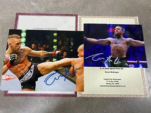 Conor McGregor Signed Autographed  2 Photo Includes COA  UFC MMA