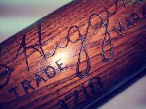 "36"" BABE RUTH Bat Old TRADE MARK 1930's NY Yankees RARE SIZE VINTAGE HIGGINS"