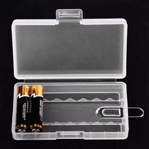 AAA Battery Case Holder 9V/AA Battery Storage Organizer Box Cover Hard Plastic