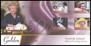 2002 Norfolk Island Queen Elizabeth II Golden Jubilee Official FDC