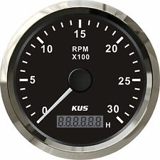 85mm Black KUS Tachometer 0-3000rpm for gasoline engine CMHB-BS-3KL (SV-KY07025)