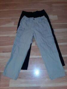 2 Pair...Blackhawk Warrior Wear Pants...38/32...Black...Khaki