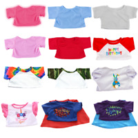"T-SHIRTS - RED,PINK,BLUE,BIRTHDAY - 8""/20cm TEDDY CLOTHES & BUILD YOUR BEAR"