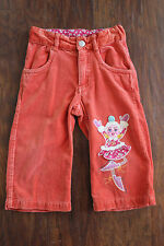 Girls Orange OILILY 86 24M Russian Dancing Doll Ice Skating Pants Velour Velvet