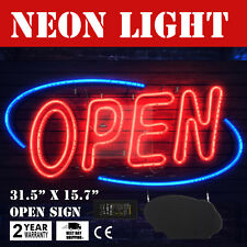 Large Bright Horizontal Neon Light Open Sign Business Shop Store
