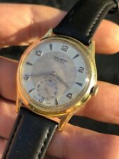 Vintage Oversized Zais Bicolor Mens Watch Hold Plated 37mm Manual Swiss