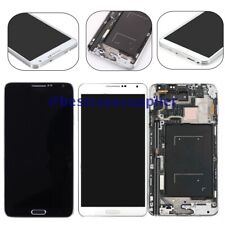 Q YBLHZPSH LCD Display Color : White Black Touch Panel with Frame for Galaxy Note III // N900A // N900T