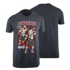 UFC Mens 181 Johny Hendricks T-Shirt -Charcoal Gray - mma sparring gym