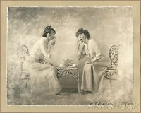 WOMEN GOSSIP Country Nostalgia R HENDRICKSON PHOTO Original Artist's Studio M203