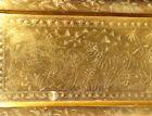 Indo Persian Ornate Brass Tray 73cm Long  Tiger Hunt Scene  C1900  Unusual Piece
