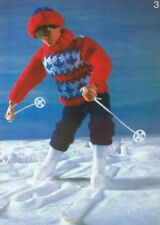 BARBIE KEN  Doll Knitting Pattern Copy  SKI Outfit Football Rifle Jacket 4 Ply