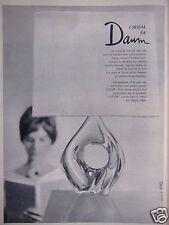 PUBLICITÉ 1961 CRISTAL DE DAUM GRAVÉ DANS LE CRISTAL - ADVERTISING