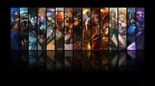 "League of Legends game Silk Cloth Poster 24 x 13"" Decor 31"