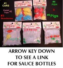 mini fish SOY SAUCE BOTTLE containers SET OF 12 pc New in Package small bottles