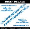 Chaparral Aufkleber XL sticker boat decal Bootaufkleber Wassersport Segelboot