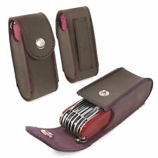 Tuff-Luv Genuine Western Leather Belt Pouch for Swiss Army Pen Knife - Brown
