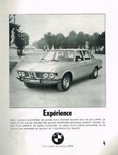 D- Publicité Advertising 1969 BMW 2800