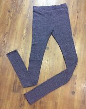 Free People Large Heather Purple Intimately Knit Ribbed Ruched Sweater Leggings
