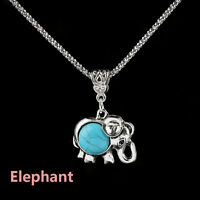 Silver Plated Turquoise Pendant Jewelry Butterfly Chain Statement Bib Necklace a