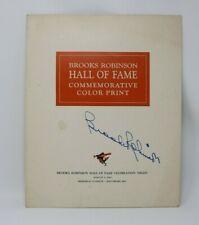 Brooks Robinson Autograph Hand Signed Hall of Fame Commemorative Print HTF