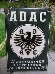 altes ADAC EMAILSCHILD Schild Emaille Emailleschild wall sign Automobile Club