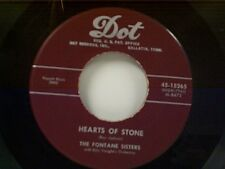 """FONTANE SISTERS """"HEARTS OF STONE / BLESS YOUR HEART"""" 45"""