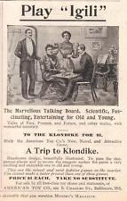 "DEC 1897 MAGAZINE PAGE- PLAY ""IGILI""- THE MARVELOUS TALKING BOARD / OUIJA BOARD"