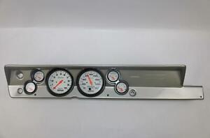 "67-69 Barracuda Silver Dash Carrier w/ Auto Meter 5"" Phantom Electric Gauges"