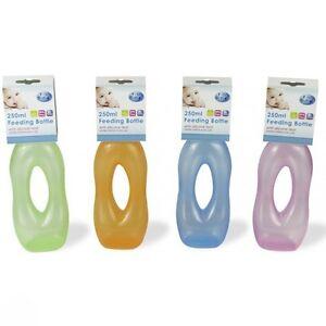 Baby Bottle Easy Grip Feeding Juice Milk Water Toddler BPA Free Nursery Dummy UK