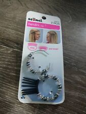 SCUNCI BENDINI HAIR CLIP - 2 PCS. (38284-A) One is broken, as shown in pictures.