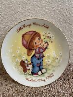 """Vintage 1982 Mothers Day """"Little Things Mean A Lot"""" Avon Mini Collectors Plate"""
