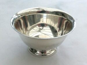 VINTAGE SILVER PLATED 'PAUL REVERE' DESIGN BOWL BY REED & BARTON   1600977/980