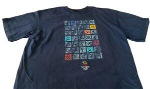 Vintage Sydney Olympic Games 2000 Men's Blue T-Shirt Bonds Australia Sz XL