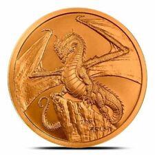 World Of Dragons Series - Welsh Dragon 1 oz .999 Copper Coins USA BU