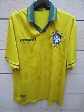 VINTAGE Maillot BRESIL Umbro World Cup 94 camiseta jersey shirt olsdchool M