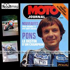 MOTO JOURNAL N°472 BMW R 80 GS PATRICK PONS TROPHHE KTM JEAN-BERNARD PEYRE '80