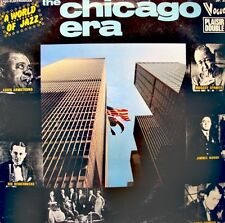 ++THE CHICAGO ERA a world of jazz ARMSTRONG/SPANIER/KING OLIVER 2LP'S 1975 VG++
