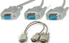 Lot50 RS232 Serial DB9 pin 1*Female~2*Males Y/T Splitter Cable/Cord/Wire Adapter